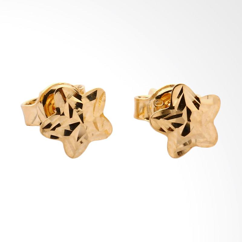 Star  Anting emas kadar 37.5 - Gold Earring-WHIZLIZ