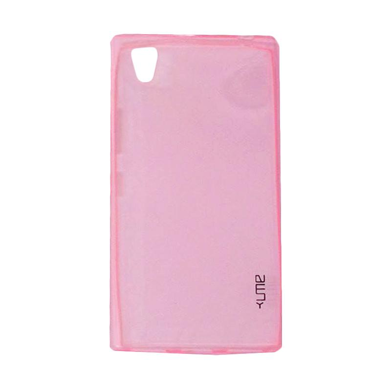 Ume Ultrathin Silicone Jelly Softcase Casing for Lenovo P70 - Pink