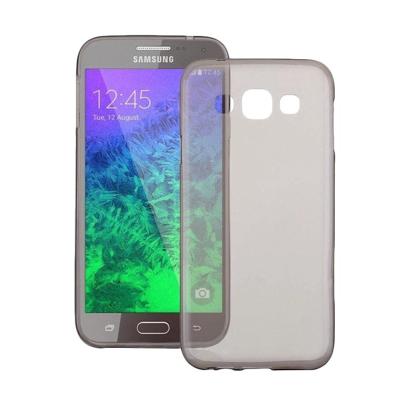 Ume Ultrathin Silicone Jelly Softcase Casing for Samsung Galaxy A5 A500F - Hitam