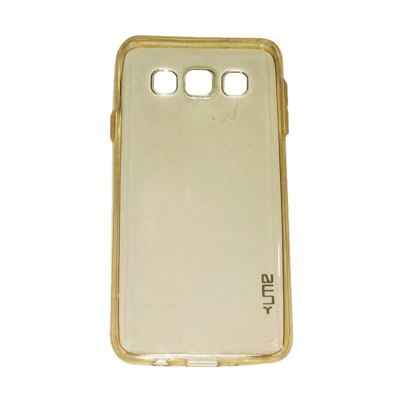 Ume Ultrathin Silicone Jelly Softcase Casing for Samsung Galaxy A8 A800F - Kuning