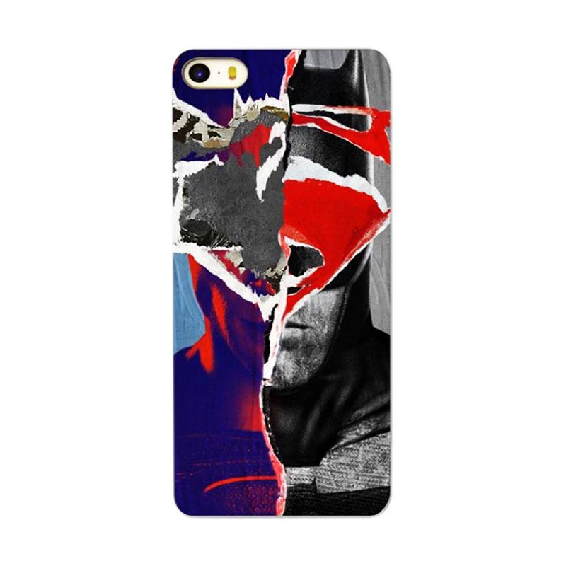 QCF Motif Super Hero Superman Hardcase Backcase Casing for Apple iPhone 4G or 4S - Black