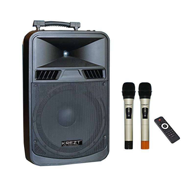 harga Krezt WAS-8412N Bluetooth System Portable Speaker [12 Inch] Blibli.com