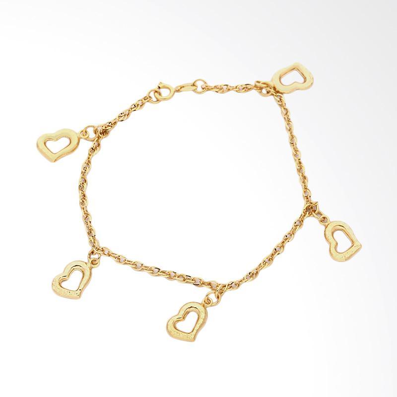 Avery Heart Gold  Bracelet - Gelang Emas Kadar 75-WHIZLIZ