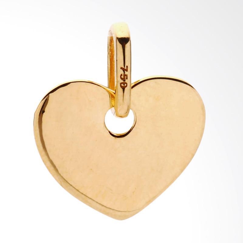Liontin Emas Kadar 75 - Gold Pendant Heart-Whizliz