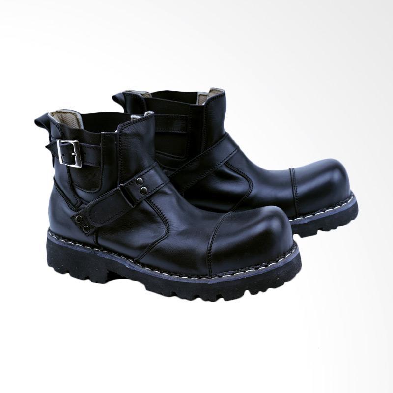 Garsel Sepatu Boots Pria - Hitam GHD 2012