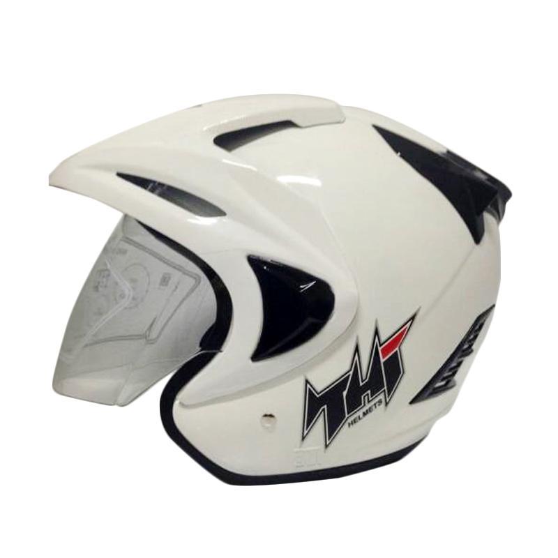 THI Helmets Rookie Polos Helm Half Face - Putih