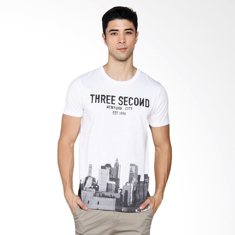 3SECOND 1504 T-shirt Pria - White [115041712]