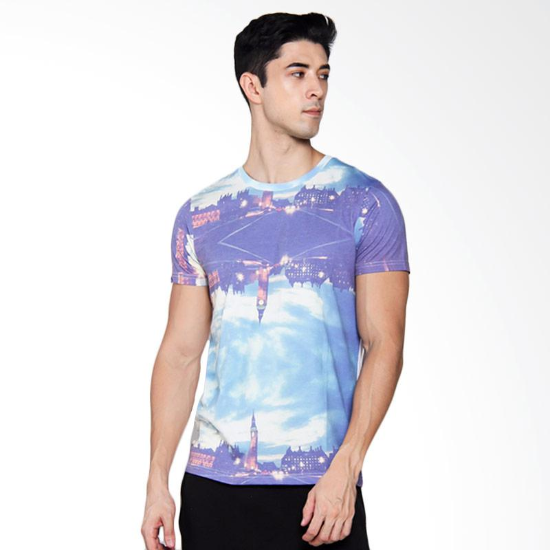 3SECOND 4212 T-shirt Pria - White [142121612]
