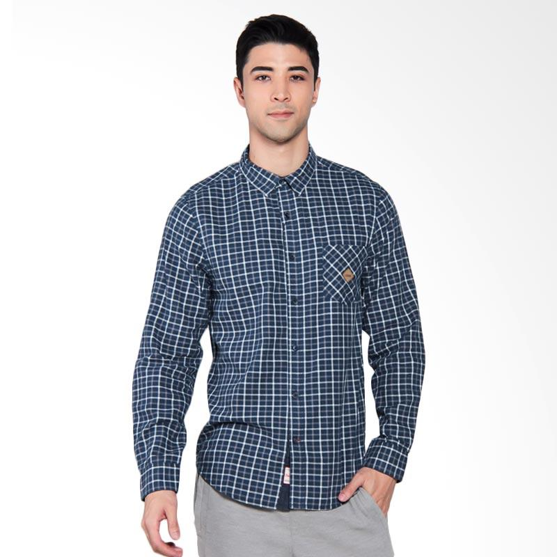 3SECOND Casual Shirt Kemeja Pria - Blue [0911 109111711BR]