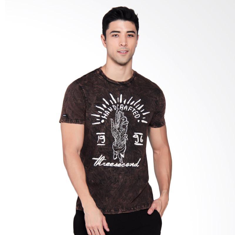 3SECOND Mens Tee T-Shirt Pria - Brown [9410 194101712CK]