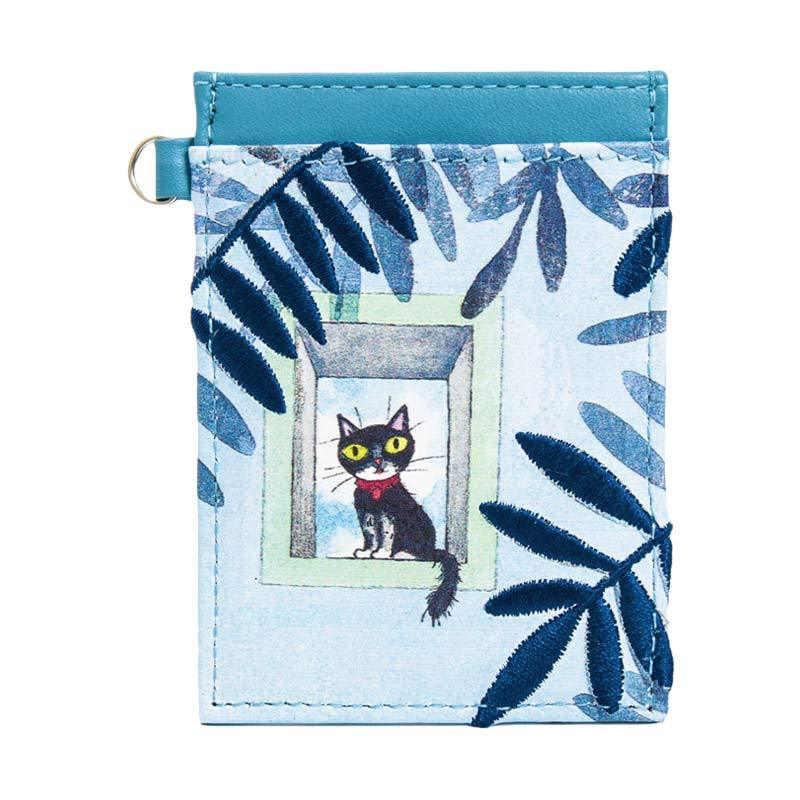 IPC Mansion Selected Kitten Card Holder - Blue
