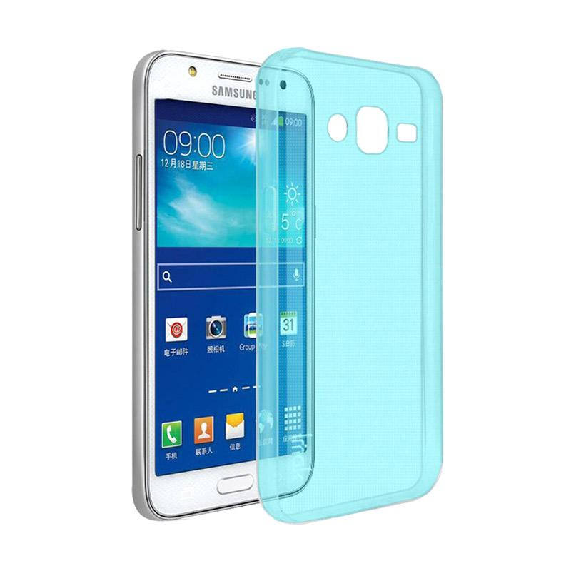 Ume Ultrathin Silicone Jellycase Softcase Casing for Samsung Galaxy Grand I9082 - Blue