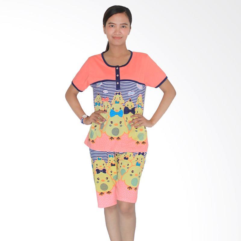 Aily 3582 Celana Pendek Setelan Baju Tidur Wanita - Peach
