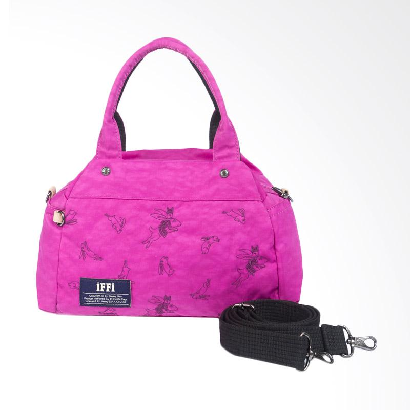IPC Mansion Selected iFFi x Jimmy Furry Rabbit Hand Bag - Fuschia