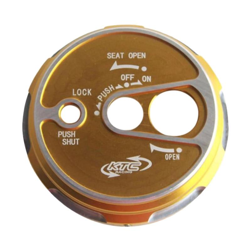 Raja Motor CNC Tutup Kunci Kontak for Yamaha NMax - Gold [TUK3024-Gold]