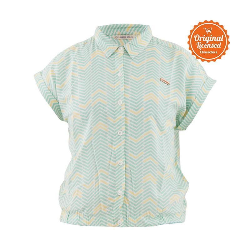 harga Surfer Girl Koko Shirt Kemeja Anak - Green Blibli.com