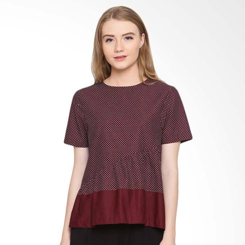 A&D Fashion  Ms 979 Ladeis Blouse Atasan Wanita - Red