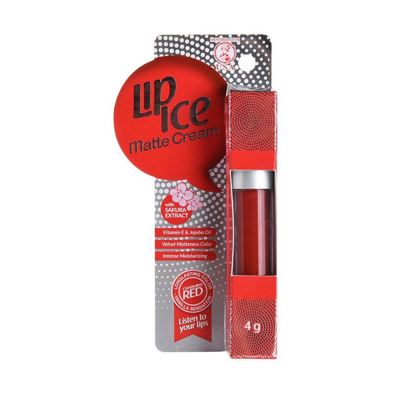 Lip Ice Matte Cream Lip Balm - Charming Red