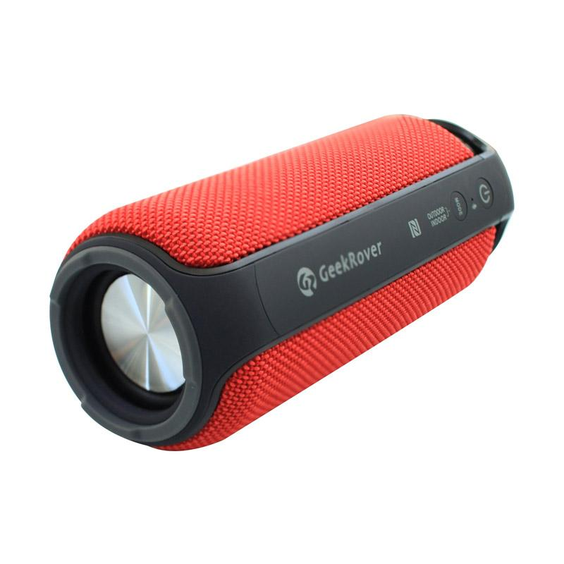 GeekRover Portable Bluetooth Speaker - Red