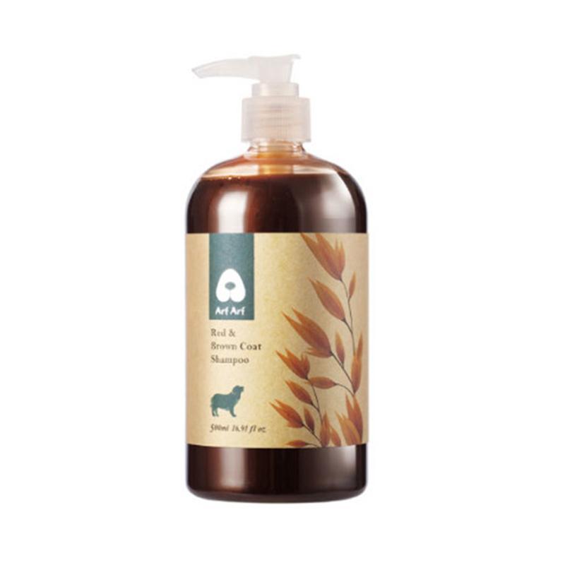 Arf Arf Natural Moisturizing Oatmeal Dog Cat Shampoo for Red & Brown Coat