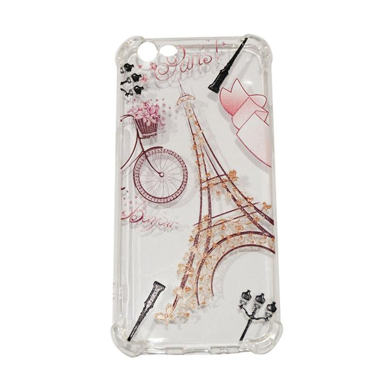 QCF Softcase Anti Crack Anti Shock Silicone Case Gambar Paris + FREE Bumper Karet Animasi Random for Oppo A39