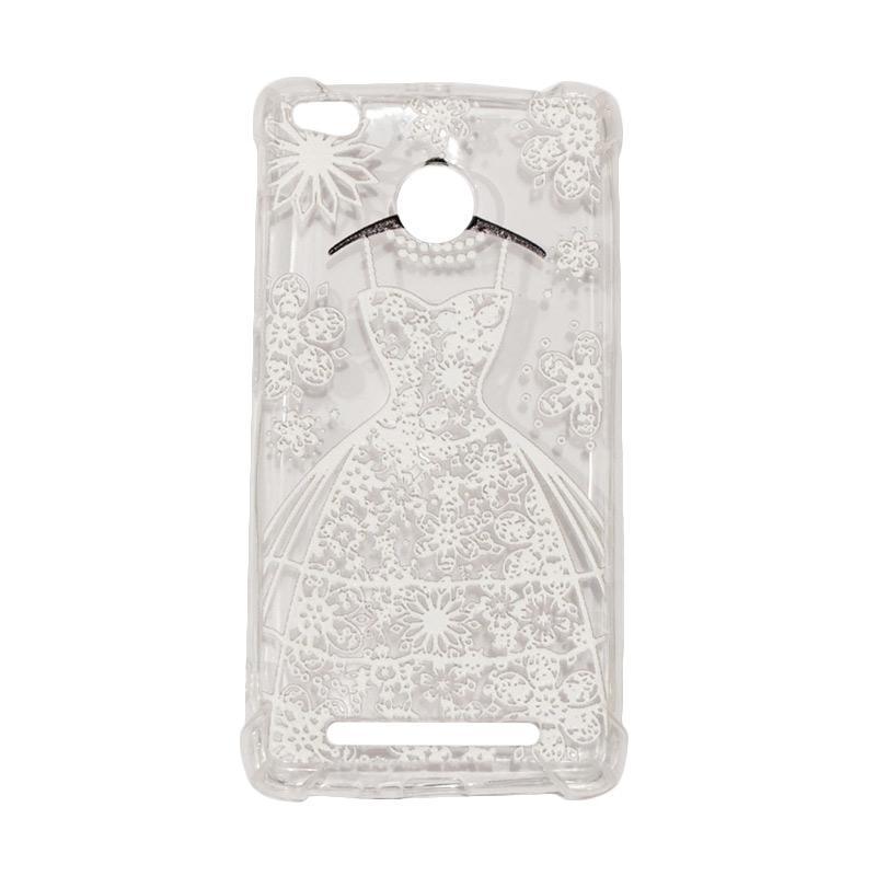 QCF Softcase Anti Crack Anti Shock Silicone Case Gambar White Dress + FREE Bumper Karet Animasi Random for Xiaomi Redmi 3X