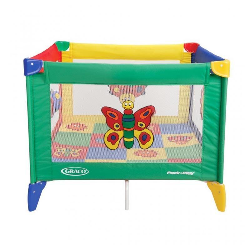 Graco Pack n Play Playard Tot Blocks Tempat Tidur Bayi - Bugs Quilts
