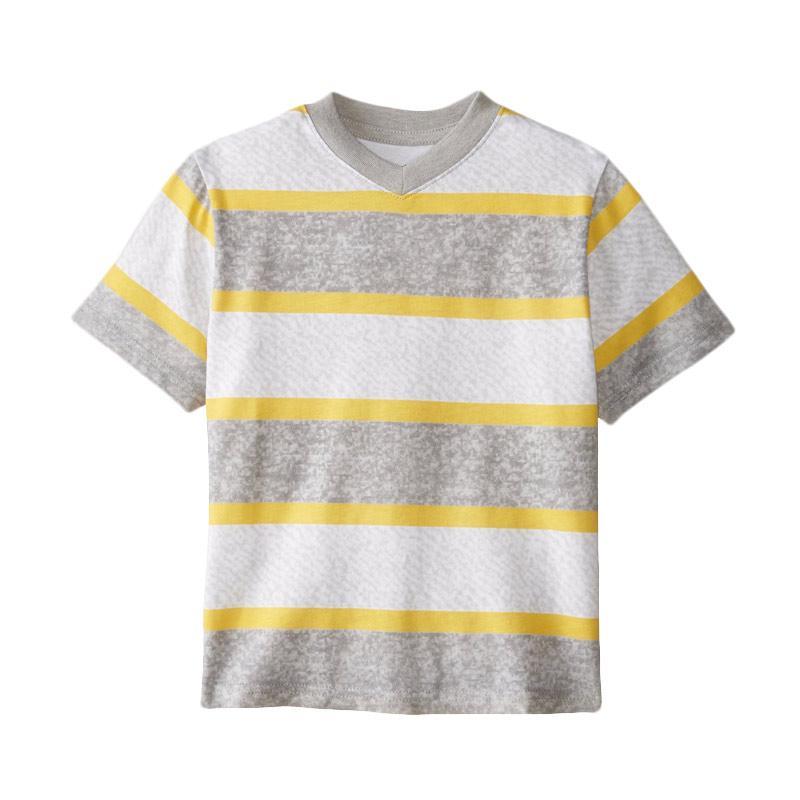 harga C-Life CL-02 Kaos V Neck Motif Strip Mix Color Baju Atasan Anak Blibli.com