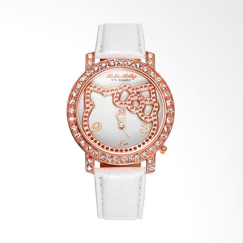 harga Hello Kitty WAT04154W Cartoon Fashion Luxury Diamond Lady Watch Jam Tangan - White Blibli.com