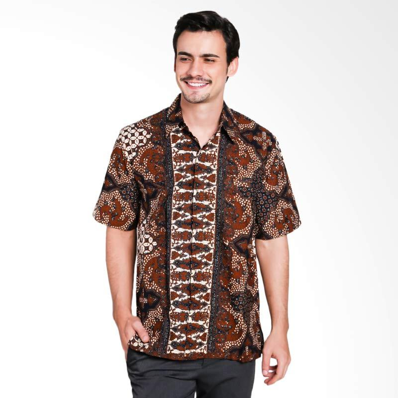Batik Pria Tampan Kmpd Psg Reg Purbonegoro I Kemeja Pria - Teak [PKMPD0359]