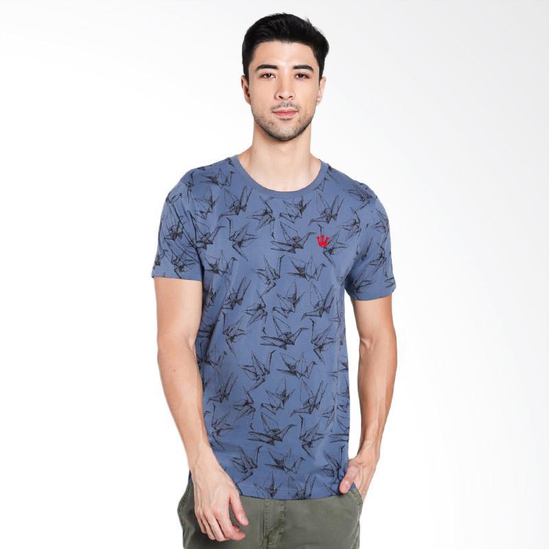 3SECOND Men 0412 T-Shirt Pria - Blue