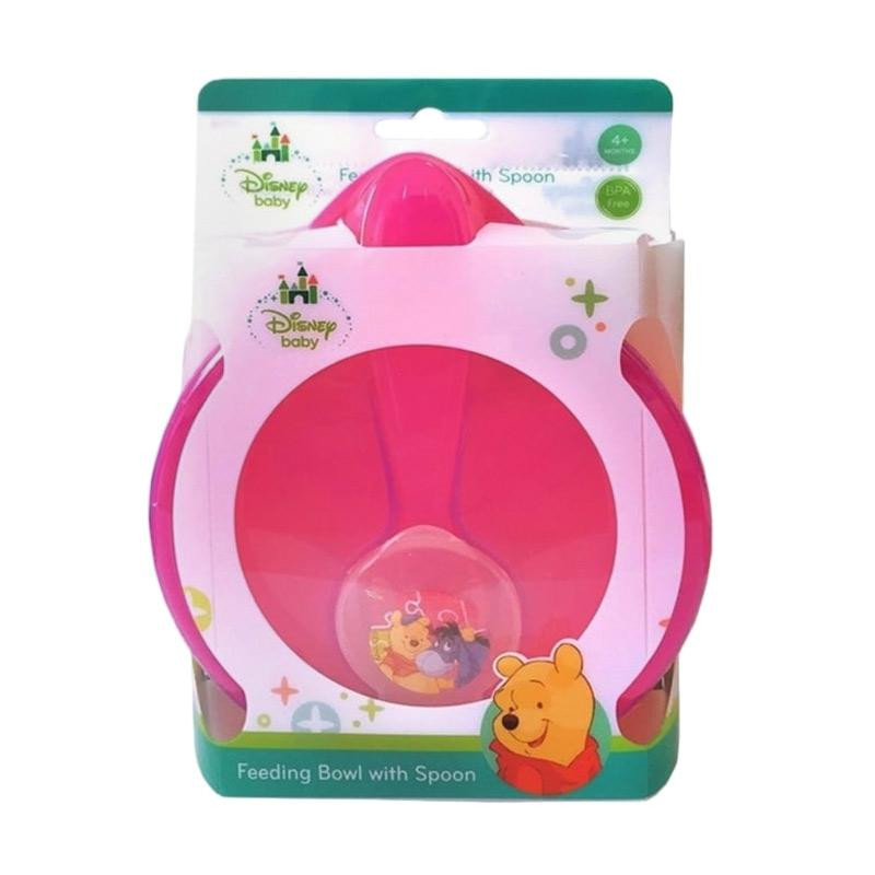 Disney Baby Feeding Bowl Set Perlengkapan Makan Anak with Spoon - Pink