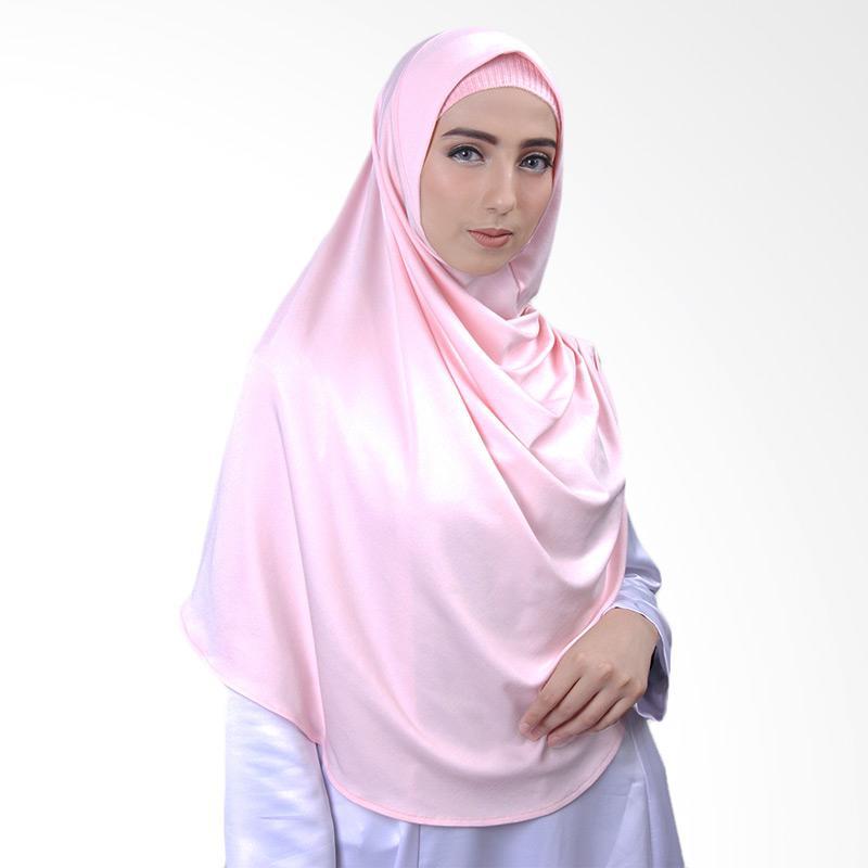 Cantik Kerudung Nazwa Hijab Instant - Soft Pink No.1