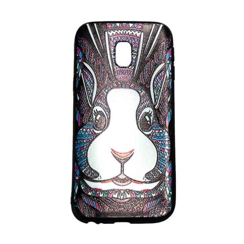 QCF Softcase Luxo Rimba Casing Gambar Rabbit Kelinci Silicone for Samsung Galaxy J3 Pro J330 2017