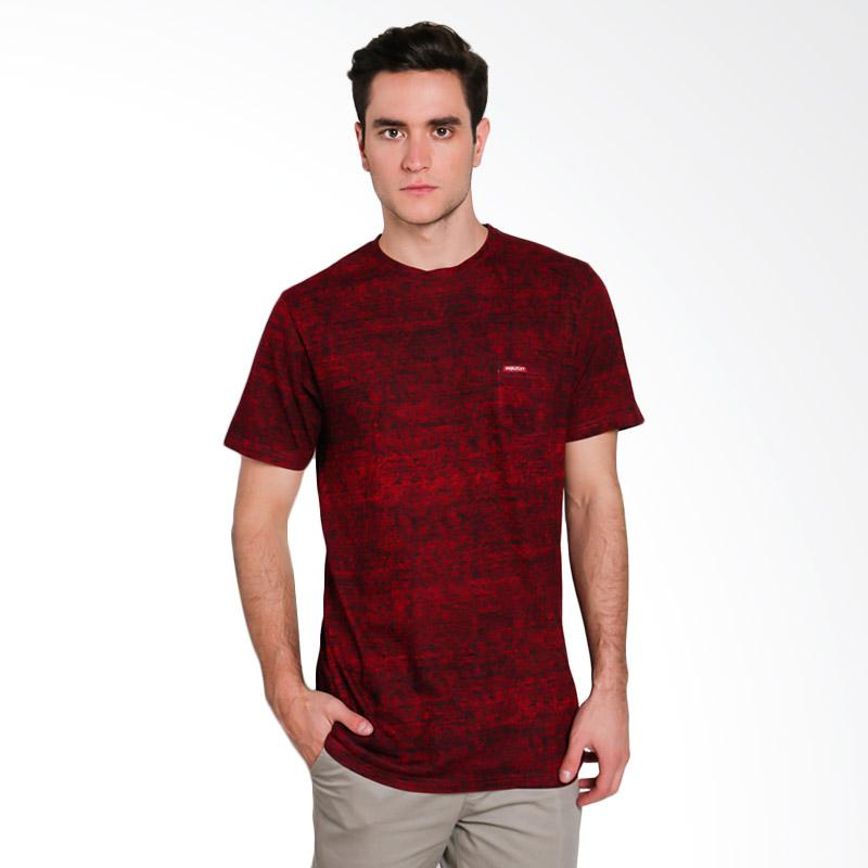 Moutley Male T-Shirt Atasan Pria - Red [2512 313121712]