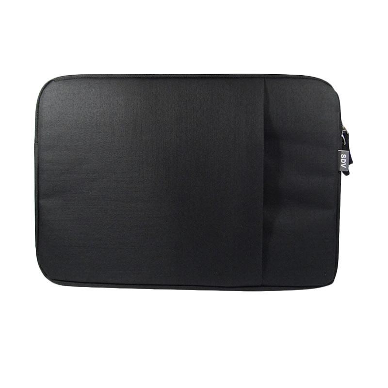 SDV LS-101 Laptop Sleeve Tas Laptop - Black [15 Inch]