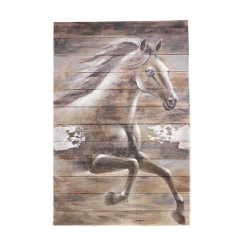 Thema Home 1186 PN Running Horse WD14 Lukisan - Grey