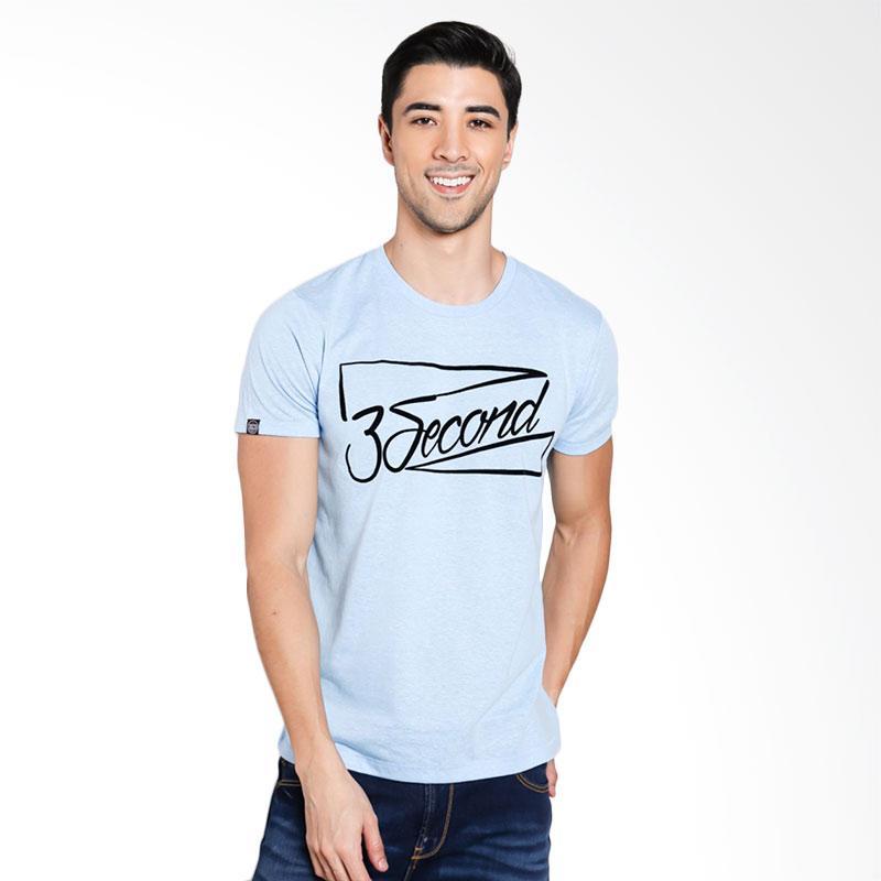 3SECOND Men 9701 T-Shirt Pria - Blue