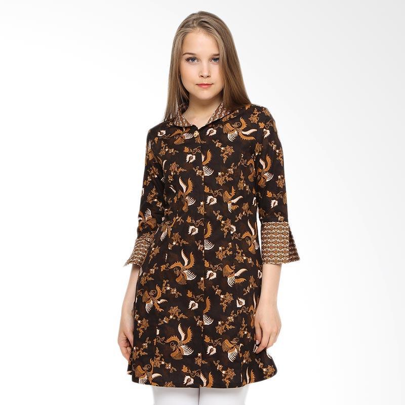 A&D Fashion Ms 82 Tunic Batik Atasan Wanita - Brown