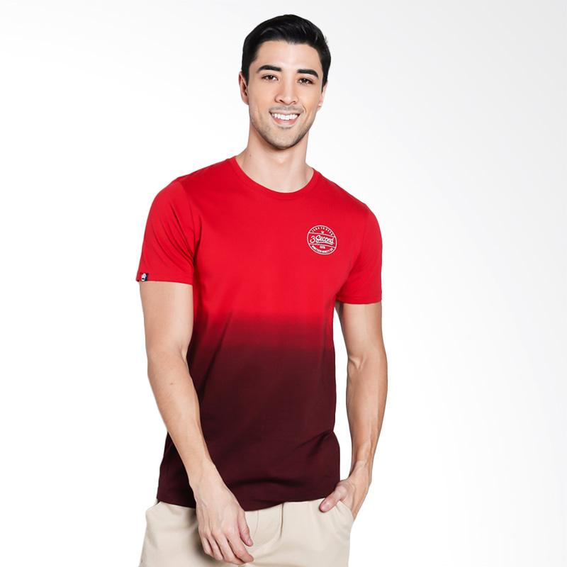 3SECOND Men 1312 T-Shirt Pria - Red