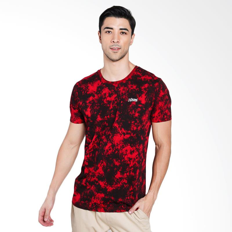 3SECOND Men 4112 T-Shirt Pria - Red