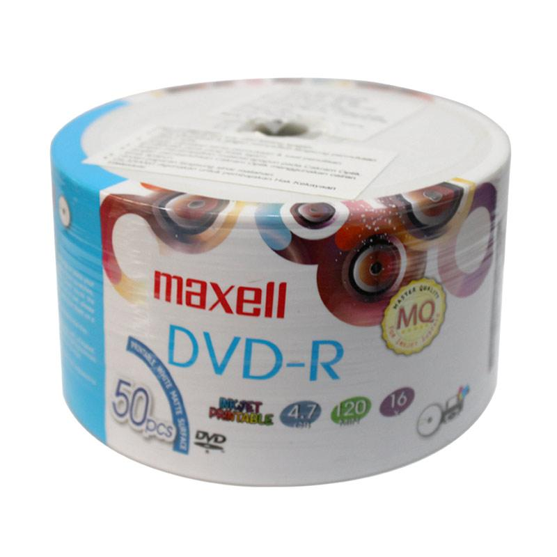 graphic about Dvd R Printable known as Maxell DVD-R Blank Inkjet Printable Disk - White [50 personal computers]