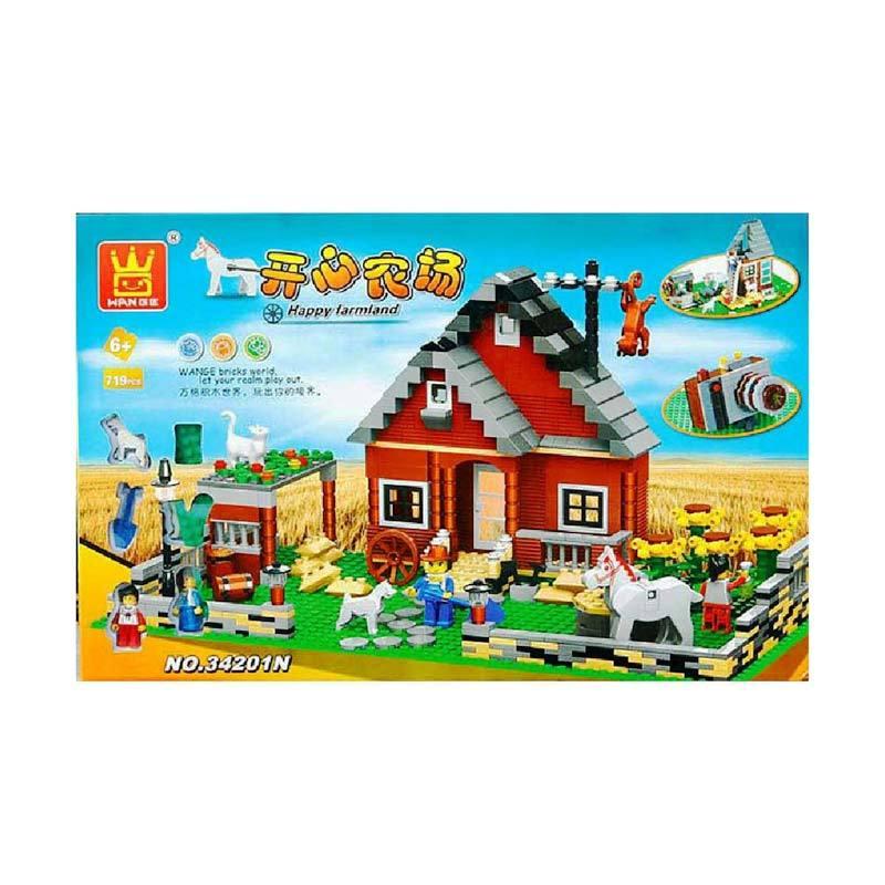Wange 34201N Farm Mainan Blok & Puzzle