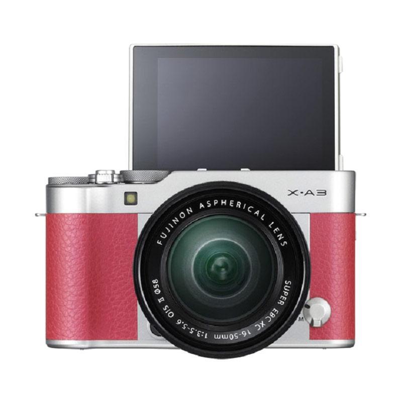 harga Fujifilm X-A3 Kit 16-50mm f 3.5-5.6 OIS II Kamera Mirrorless - Pink Blibli.com
