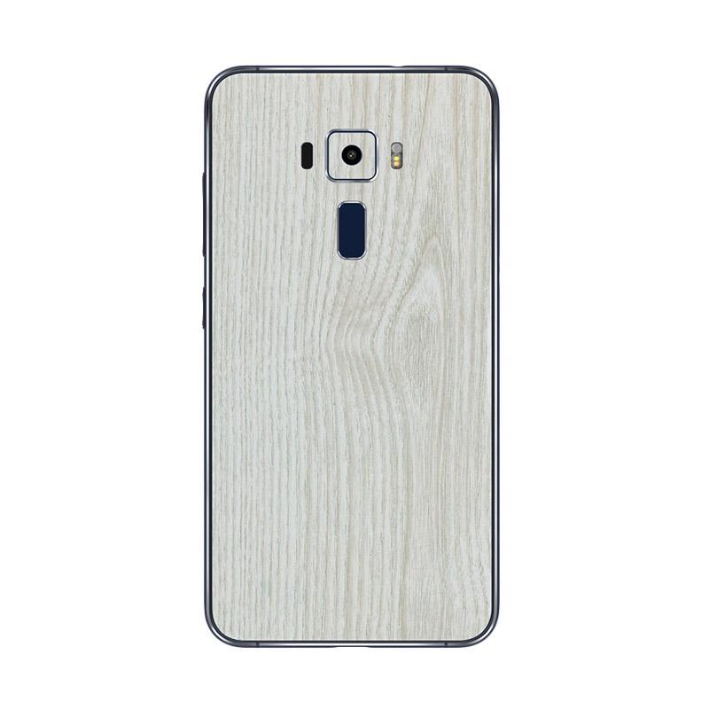 Harga Jual 9Skin Premium White Wood Skin Protector for Asus Zenfone 3 5.5 Inch ZE522KL [