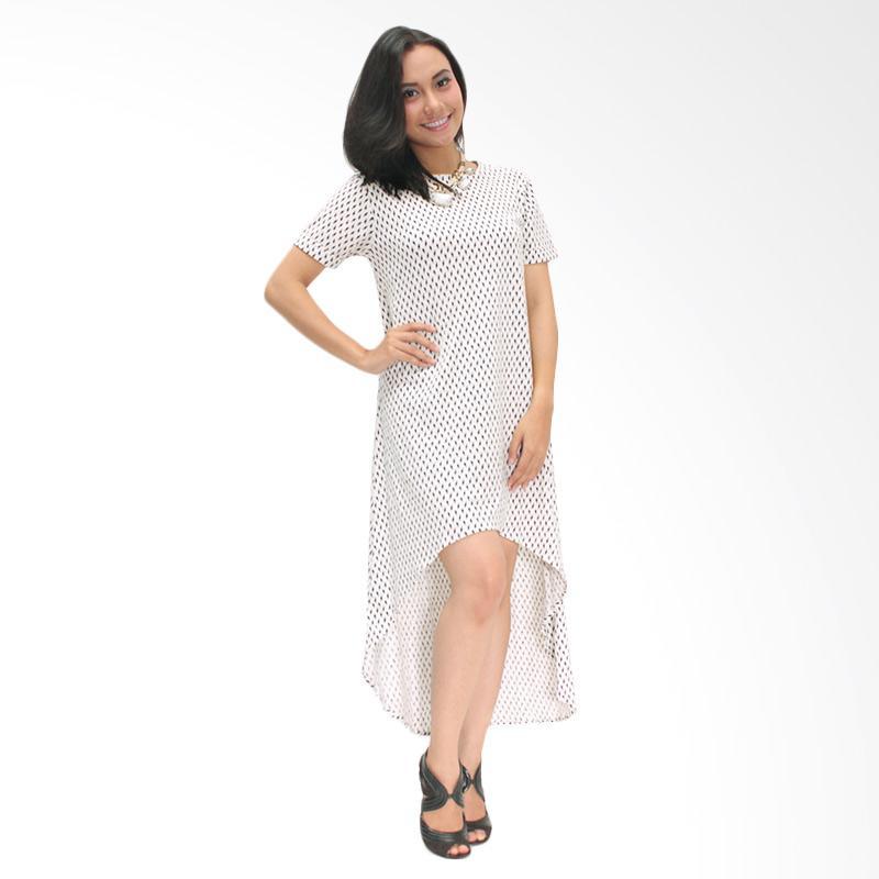 Tendencies Claire Asimetri Dress - Putih