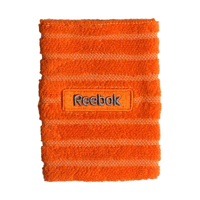 Reebok Embossed Wristband Aksesoris Olahraga Basket - Orange/Ash Grey [W6014]