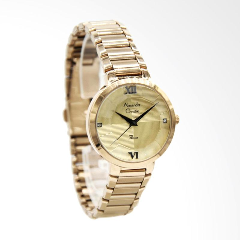 Alexandre Christie 2616 Jam Tangan Wanita - Light Gold