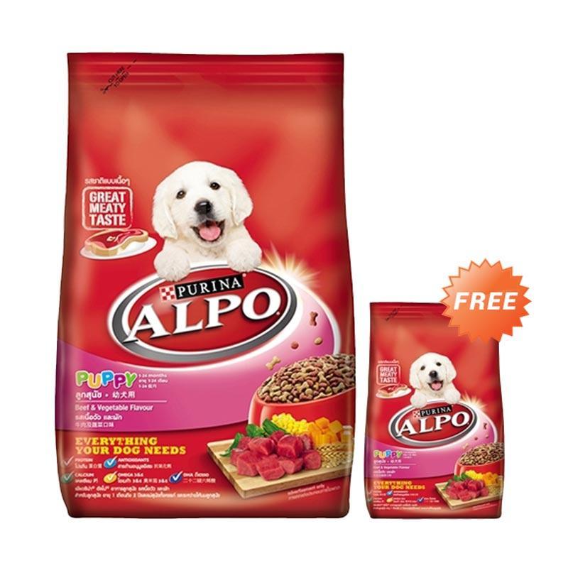 harga Alpo Puppy Beef Veg Makanan Anjing [2.6 kg] + Free Alpo Puppy Beef Veg [450 g] Blibli.com
