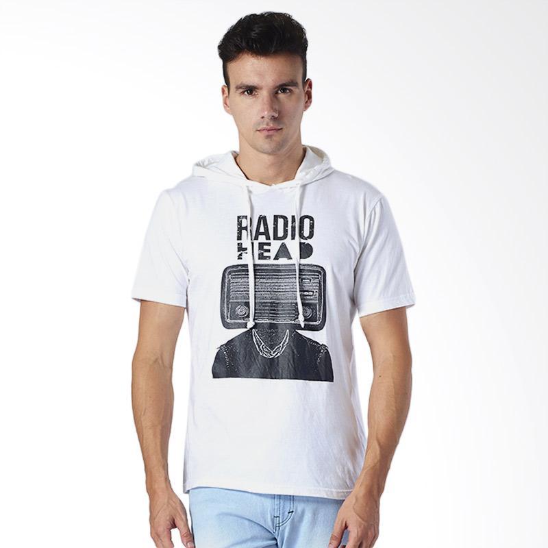 harga One Hours Radio Head Hoodie T-Shirt Pria - Putih Blibli.com
